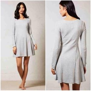 Anthro Eloise Chiara Thermal Waffle Knit Dress
